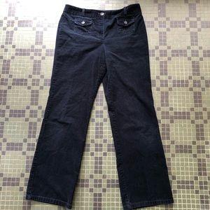 Ann Taylor Pants - Ann Taylor Signature Fit Black Corduroy Pants 8